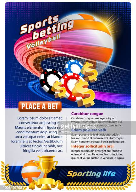 sports betting volleyball - bookmaker stock illustrations, clip art, cartoons, & icons
