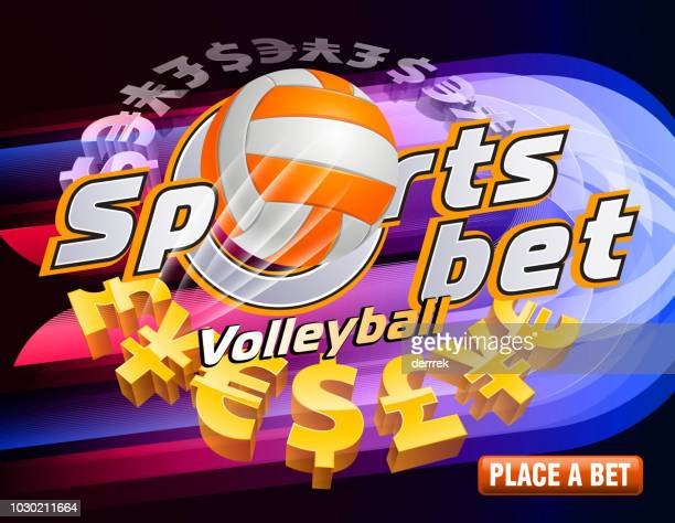 sports betting volleyball - bookmakers stock illustrations, clip art, cartoons, & icons