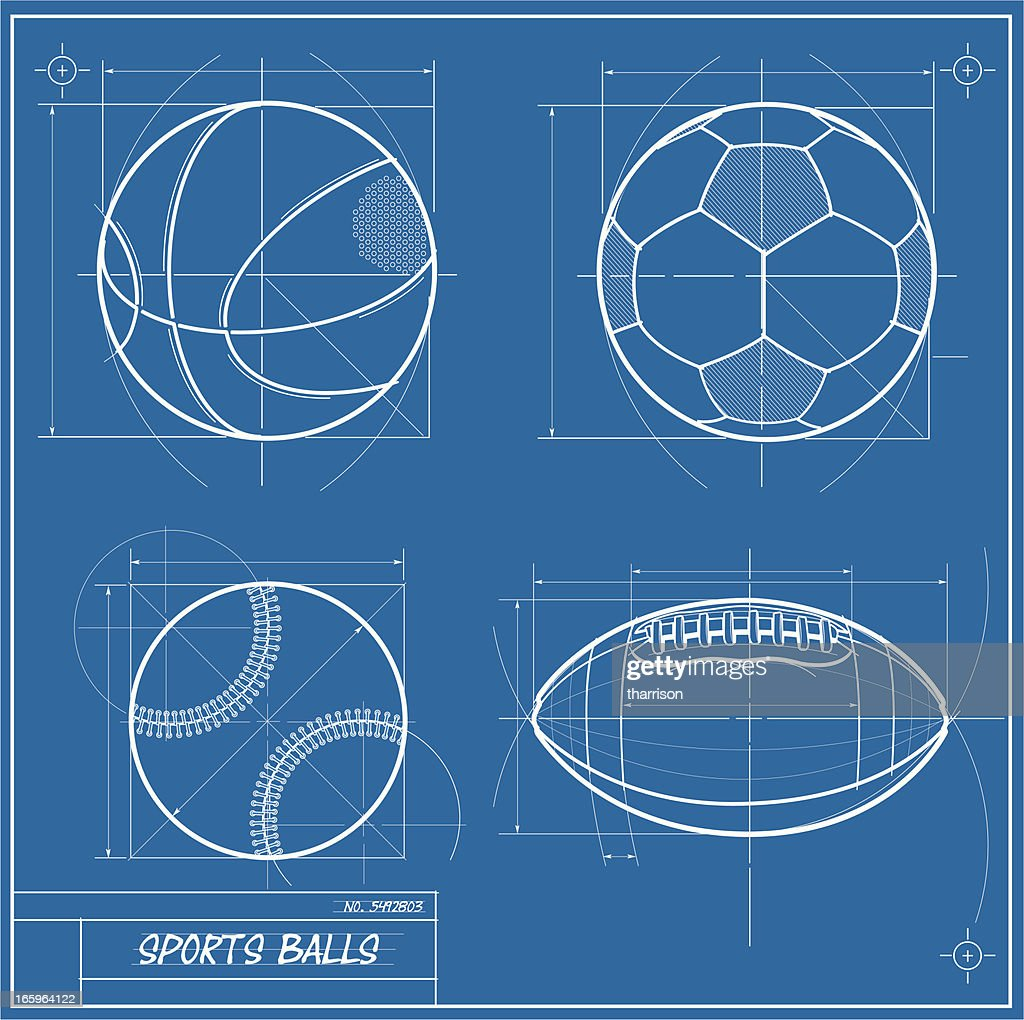 Sports blueprint vector art getty images sports blueprint vector art malvernweather Choice Image