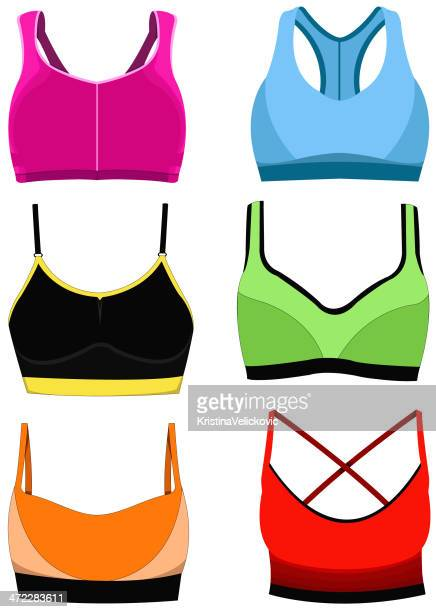 sports bra - en búsqueda stock illustrations