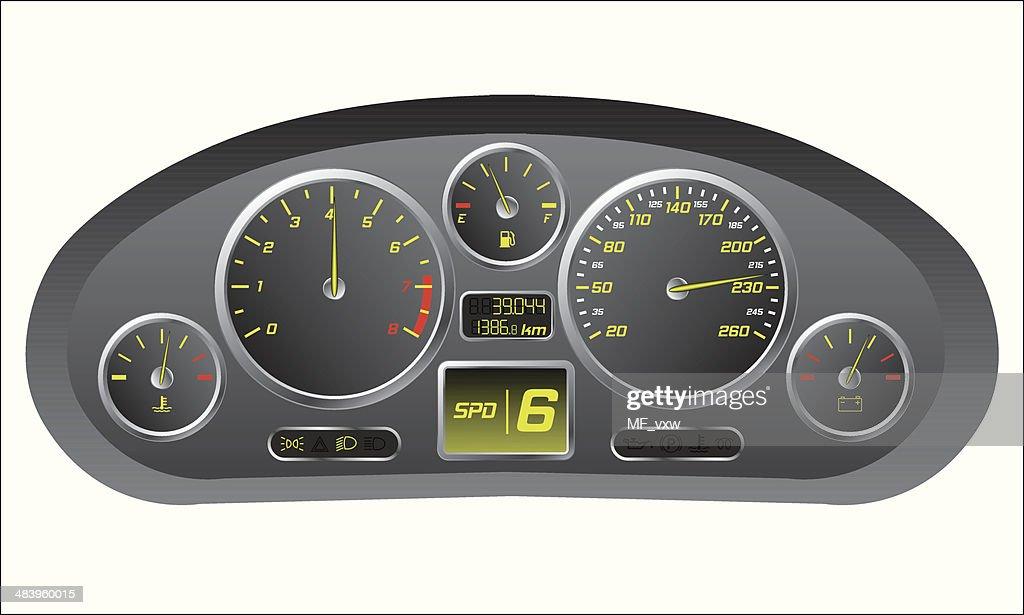 Sports car dashboard
