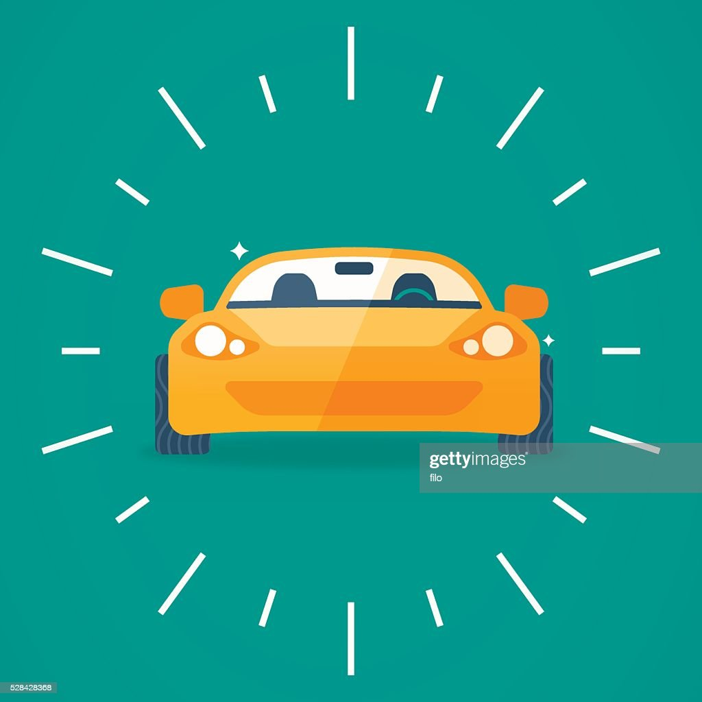 Sports Car Front View : stock illustration