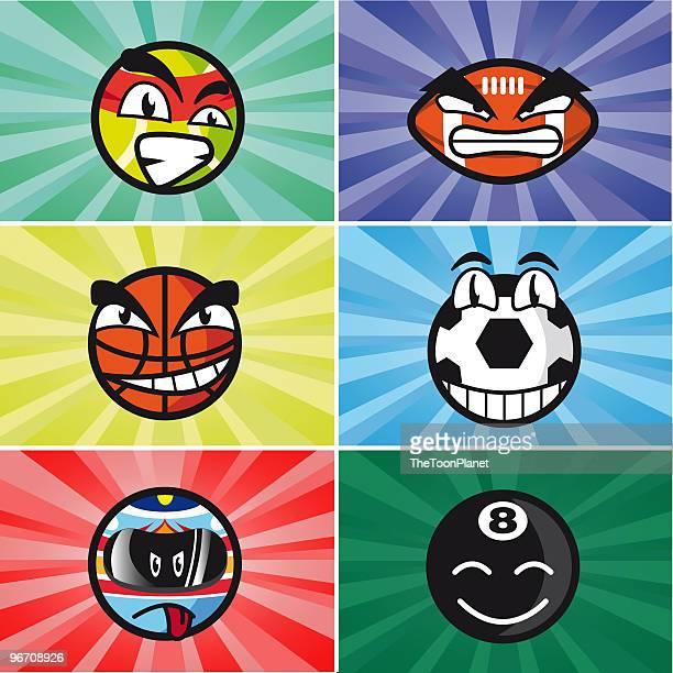 Sports Cartoon Balls
