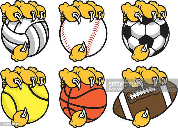 sports claws - claw stock illustrations, clip art, cartoons, & icons