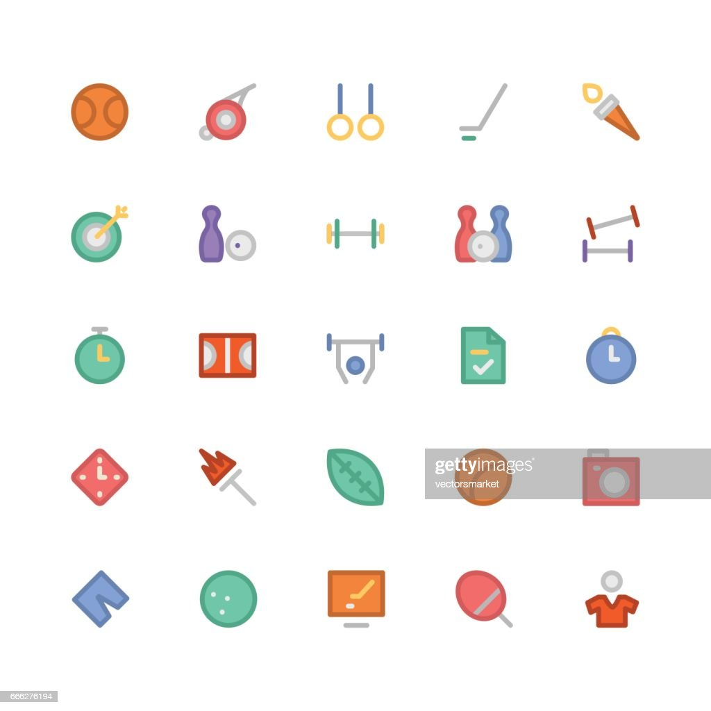 Sports Colored Vector Icons 6
