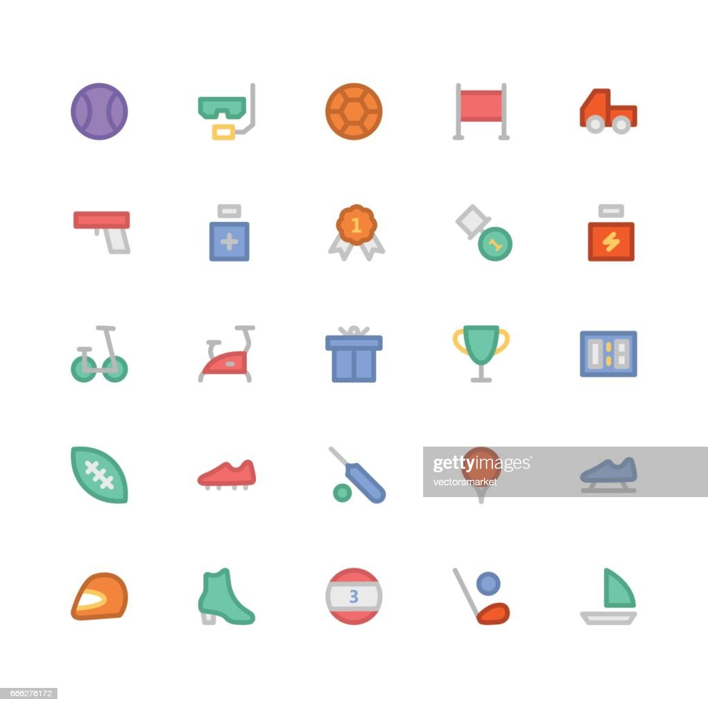 Sports Colored Vector Icons 8