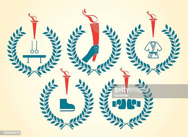 . sports emblems - the olympic games stock illustrations