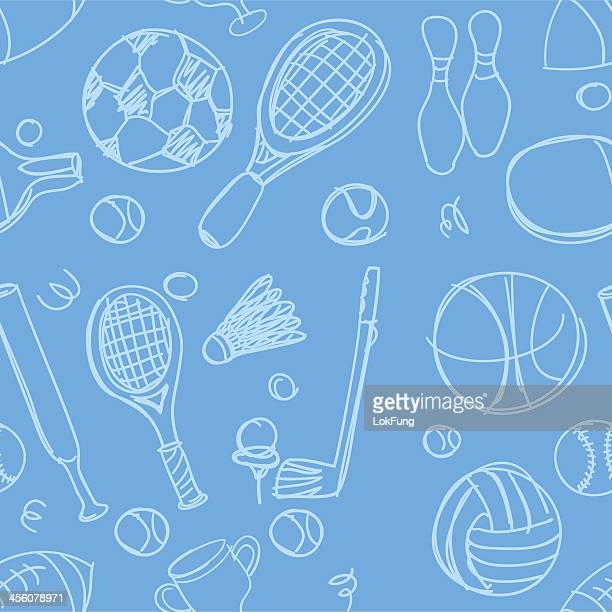 sports equipment background - badminton racket stock illustrations