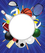 Sports Equipment With Background