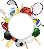 Sports Equipment With Text Space
