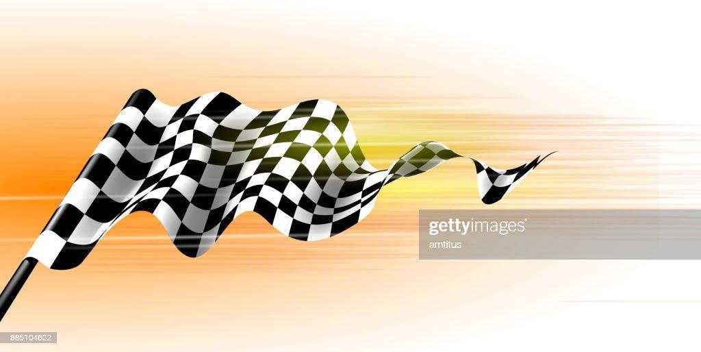 Sports flag : stock illustration