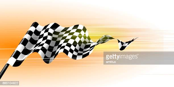 sports flag - race car stock illustrations, clip art, cartoons, & icons