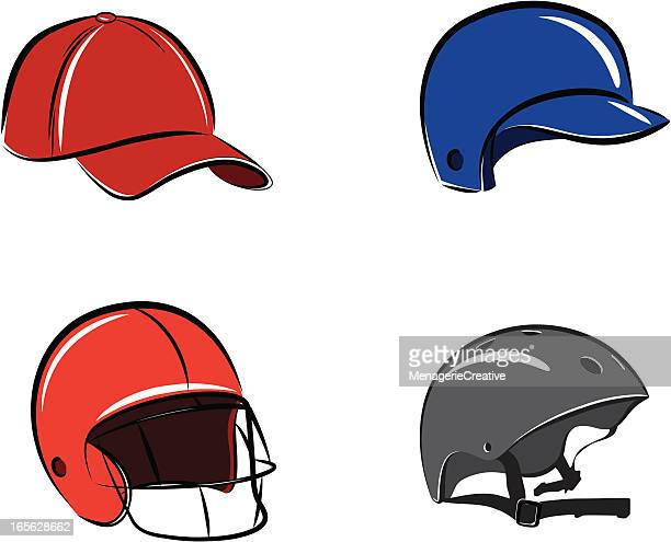 sports headgear - bike helmet stock illustrations, clip art, cartoons, & icons