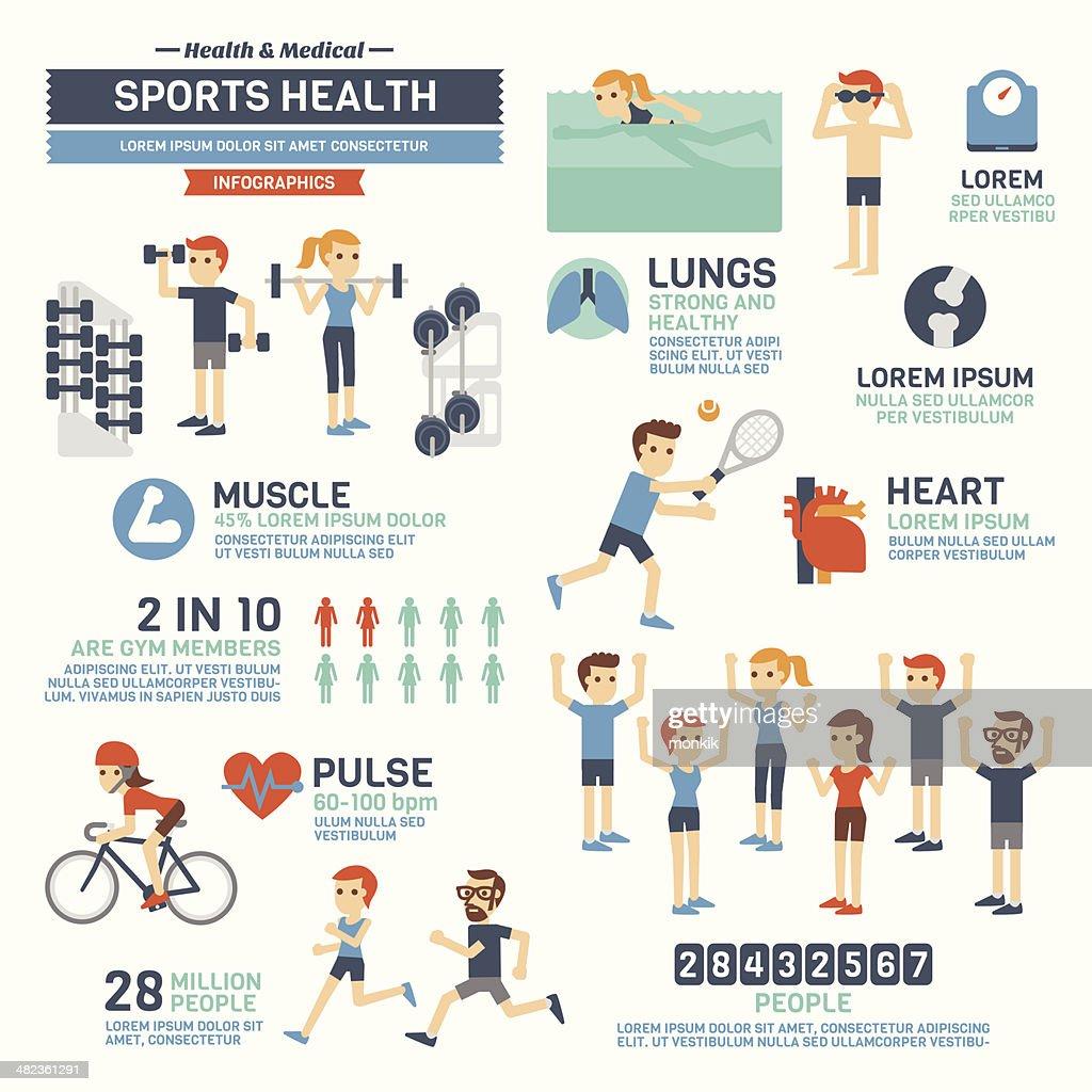 Sports Health Infographics