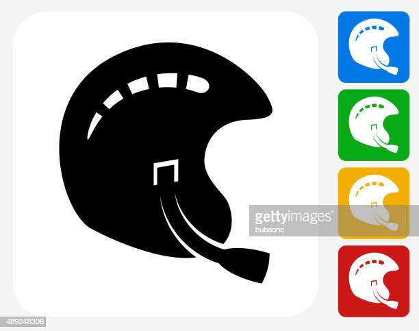 sports helmet icon flat graphic design - safety american football player stock illustrations, clip art, cartoons, & icons