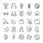 Sports Icon Doodle set