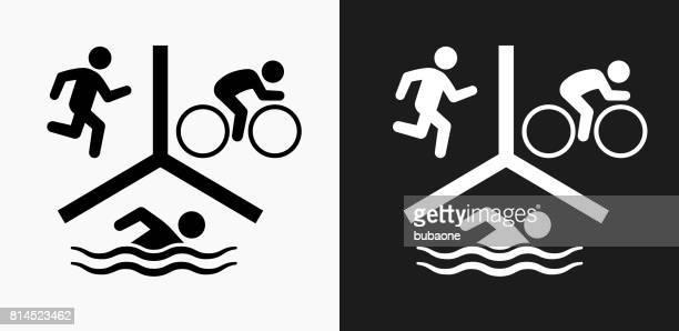 illustrazioni stock, clip art, cartoni animati e icone di tendenza di sports icon on black and white vector backgrounds - tempo turno sportivo
