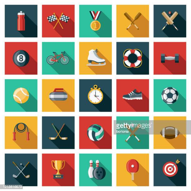 sports icon set - volleyball ball stock illustrations