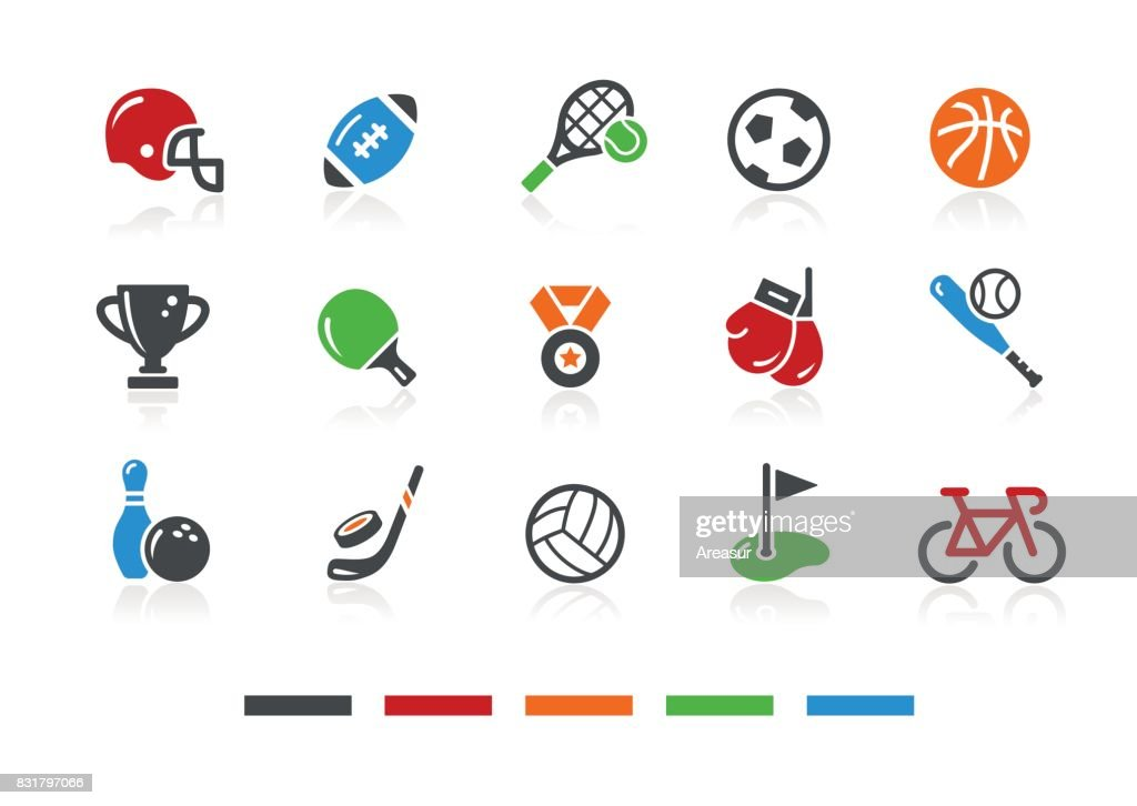 Sports Icons 1 // Color Series : stock illustration