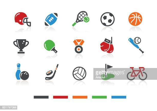 sports icons 1 // color series - match sport stock illustrations, clip art, cartoons, & icons