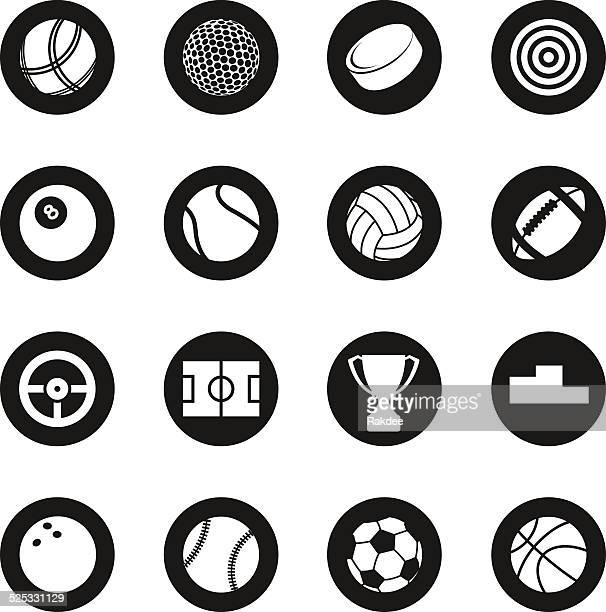 Sports Icons - Black Circle Series