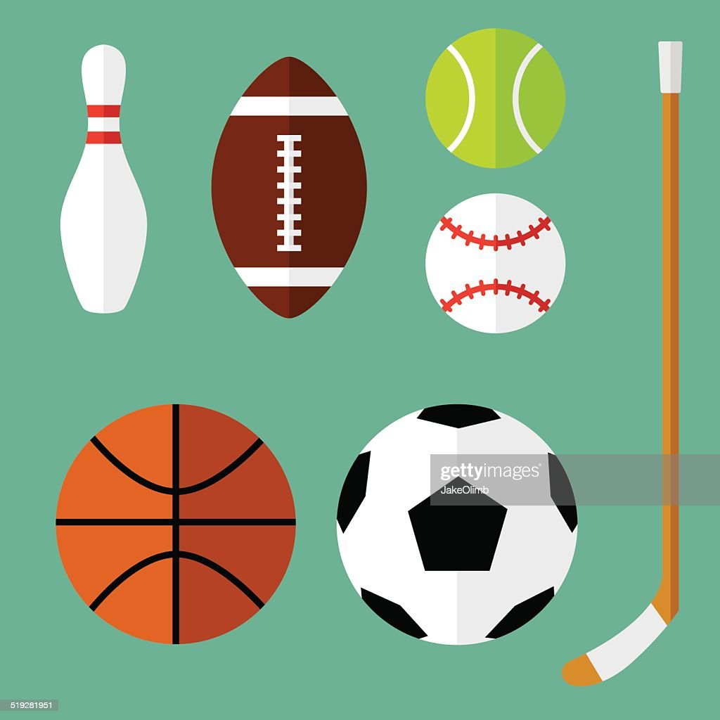 Sports Icons Flat 1 : stock illustration