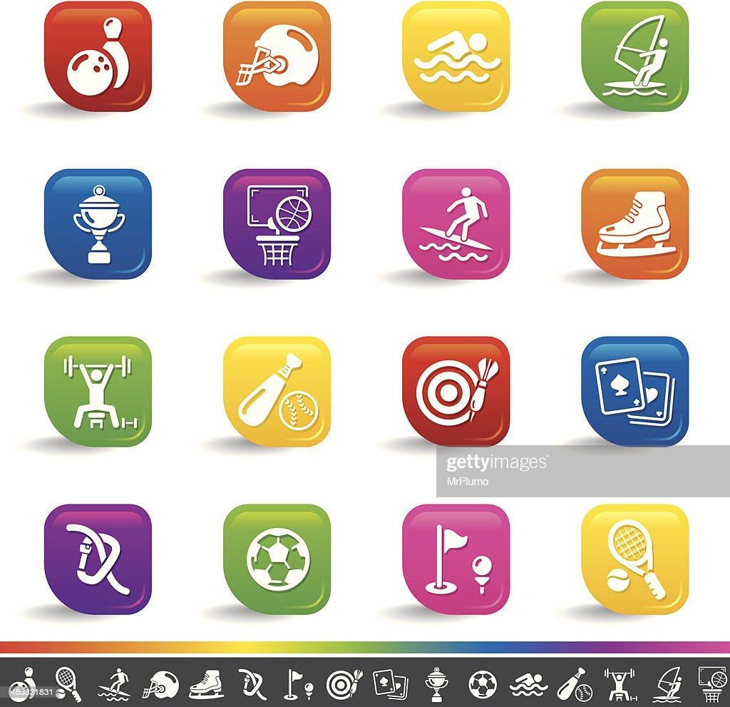 Sports icons | Rainbow Series