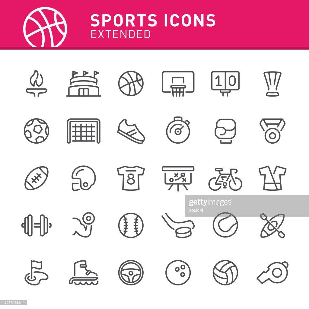 Iconos de deportes : Ilustración de stock