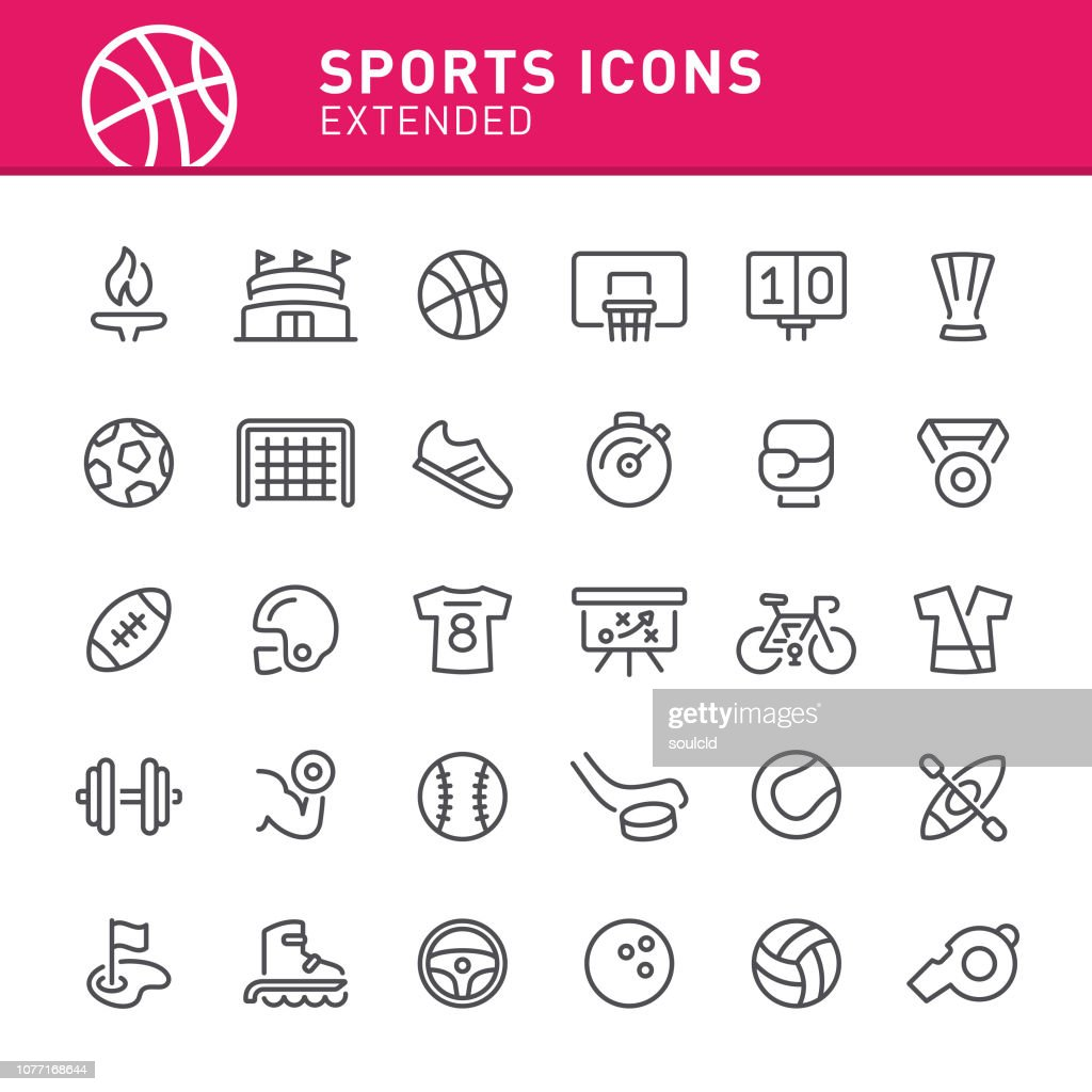 Sports Icons : stock illustration