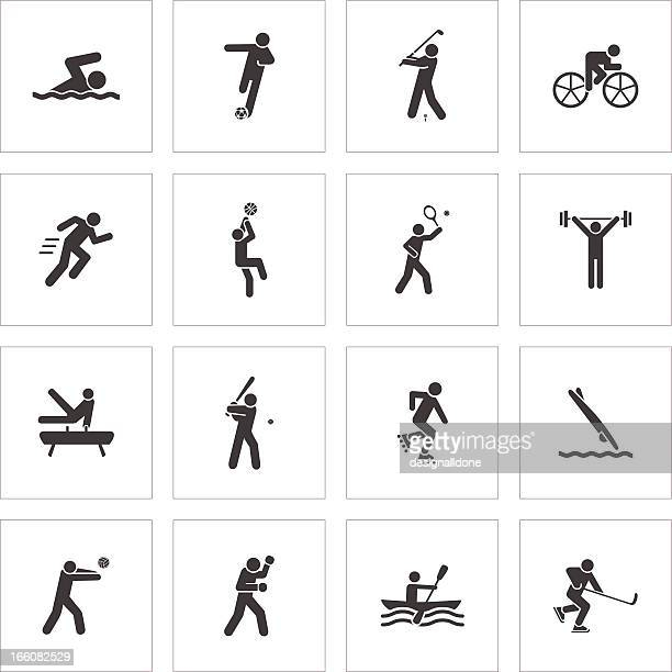 sport symbol - sprint sport wettbewerbsform stock-grafiken, -clipart, -cartoons und -symbole
