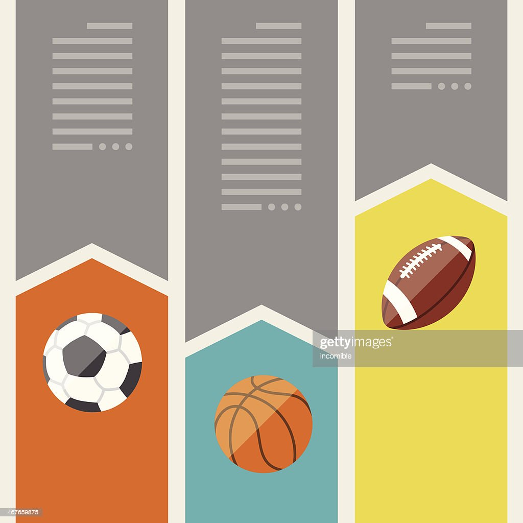 Sports infographics optional banners.