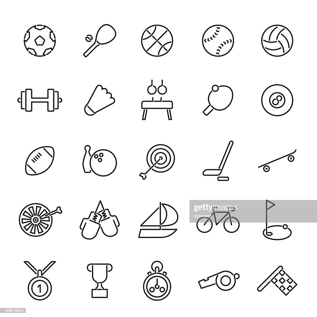 Sports Line Icons Collection