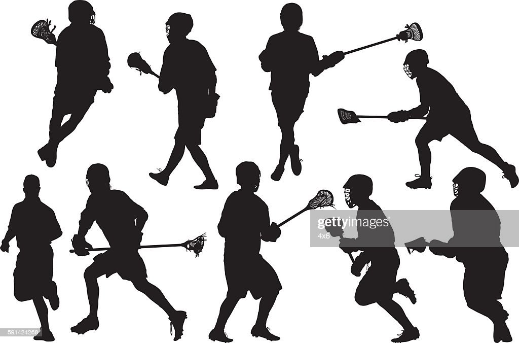 Sports men doing lacrosse