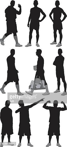 Sports men in various actions