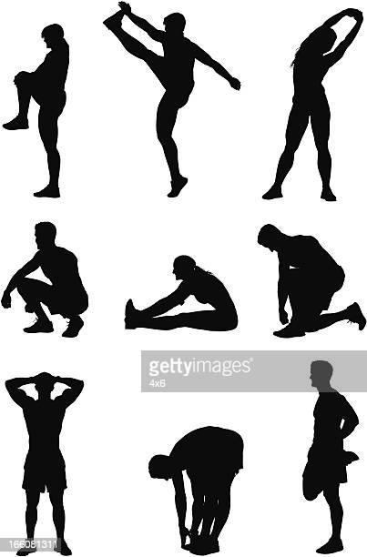 Sports personnes faisant de l'exercice
