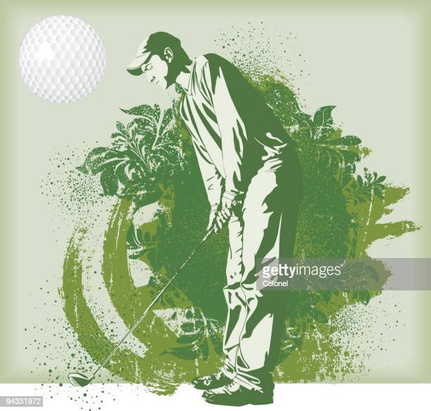 sports people - golf - drive ball sports stock illustrations, clip art, cartoons, & icons