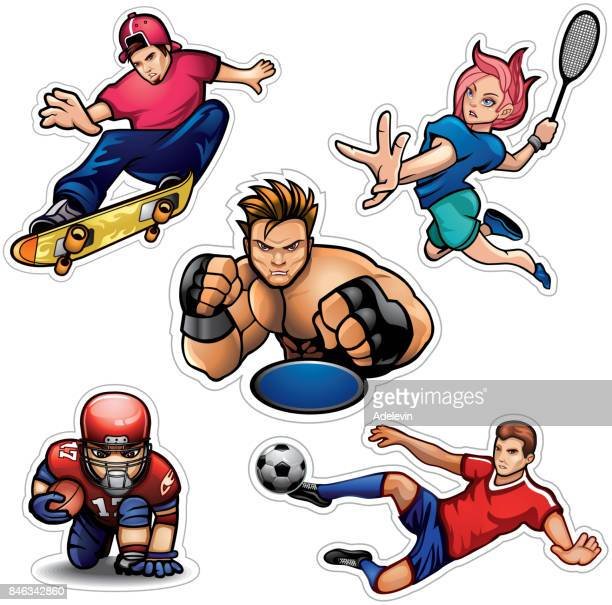 Sports people vector set
