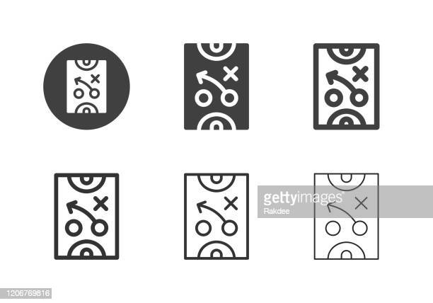 ilustraciones, imágenes clip art, dibujos animados e iconos de stock de iconos de planificación deportiva - multi series - rondas deportivas