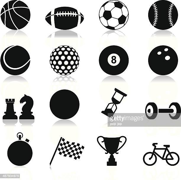 sports related set of twelve icons - baseball sport stock illustrations