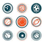 Sports set of premium stamps