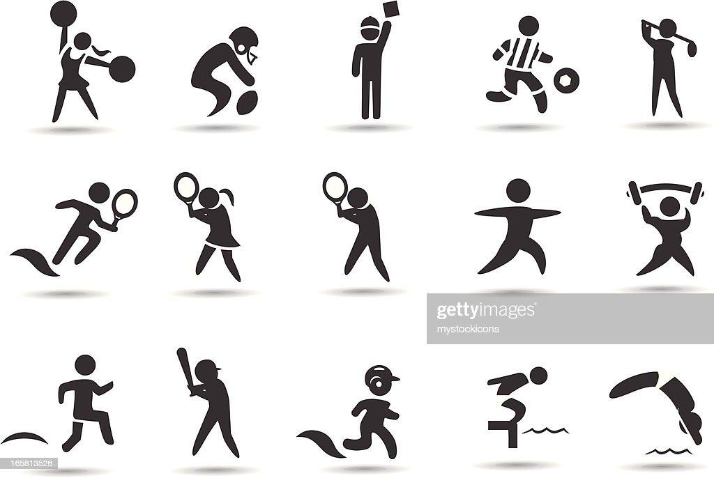 Sports Stick Figures