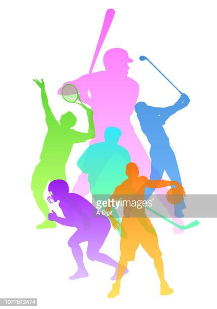 sports variety outdoor activity - sportsperson stock illustrations
