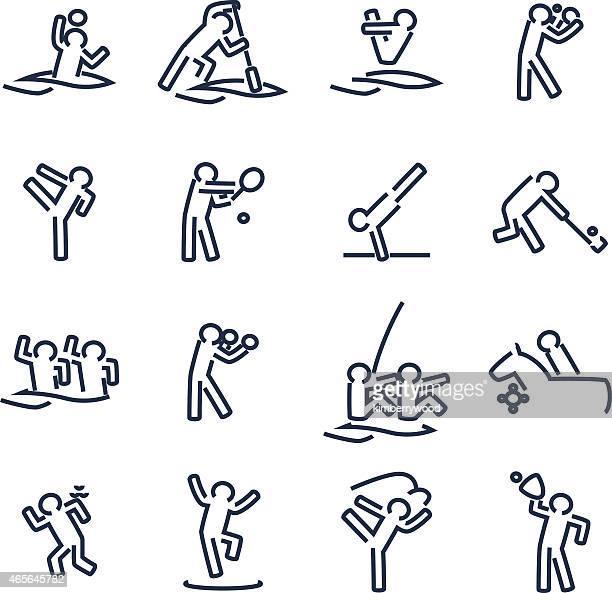 ilustraciones, imágenes clip art, dibujos animados e iconos de stock de deportes - hockey sobre hierba