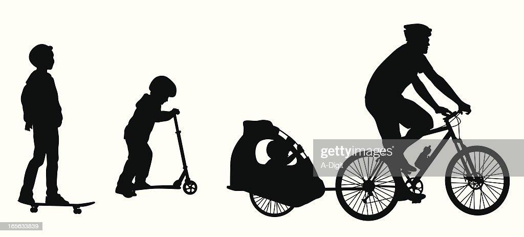 Sports Wheels Vector Silhouette : stock illustration