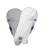 Sports white play and training kneepads. Knee pads, sports equipment.