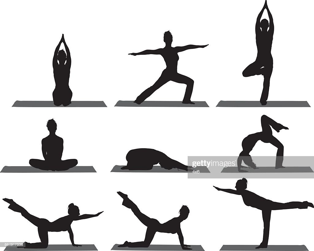 Sports women doing yoga