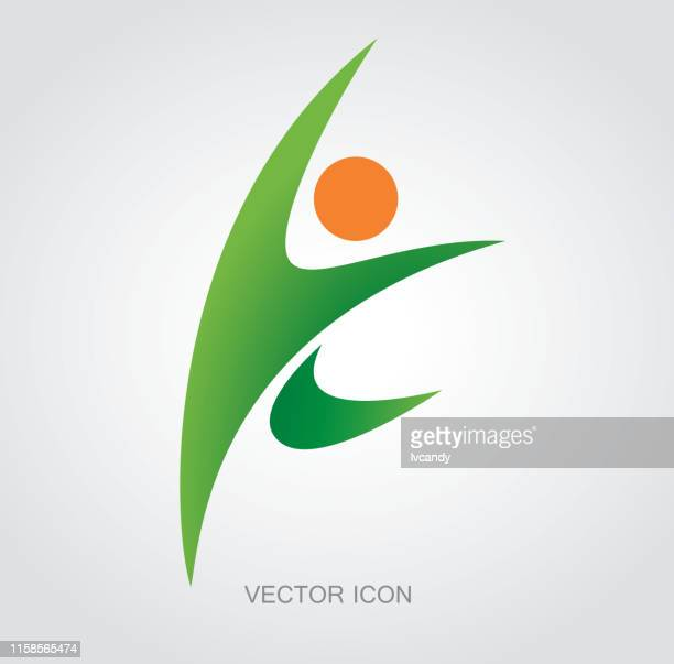 sportsman symbol - sportsperson stock illustrations