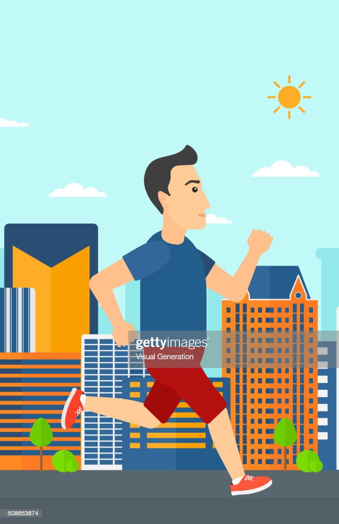 b93737237618 Sportive Man Jogging stock vector - Getty Images