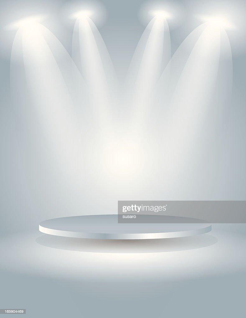 Spot light the oval stage : stock illustration