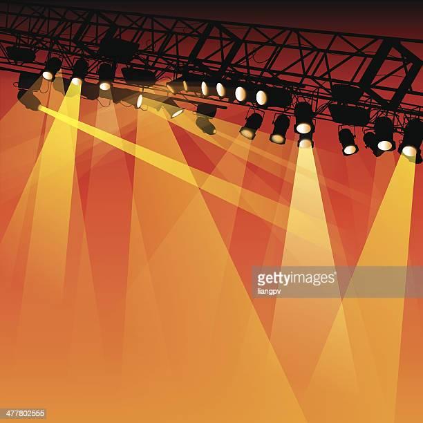 ilustraciones, imágenes clip art, dibujos animados e iconos de stock de spotlight - luz de escenario